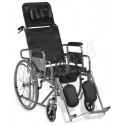 WHEEL CHAIR COMMODE FULL RECLINING KY-608GC